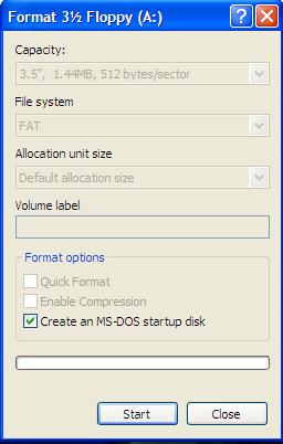 Windows Format Option